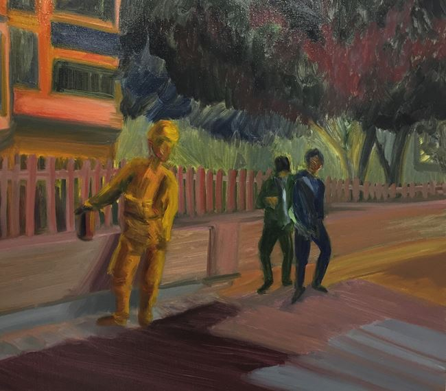 Fireman Night-watching 消防夜巡 by Ngan Leong Cheung contemporary artwork
