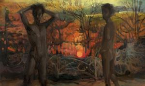 Hunted Sunset//A Conversation of Sorts by Jake Grewal contemporary artwork