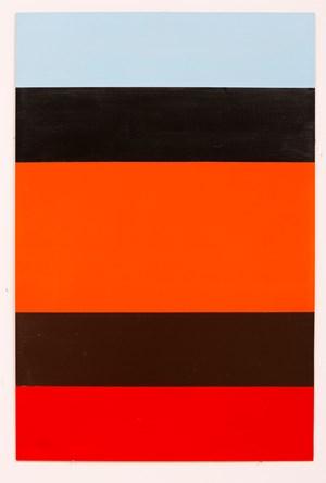 Orange, Black, Brown, Red, Pale Blue by John Nixon contemporary artwork