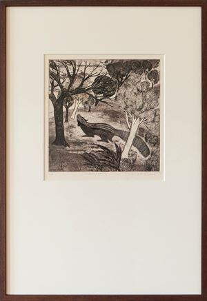 Afternoon by Mrinalini Mukherjee contemporary artwork print