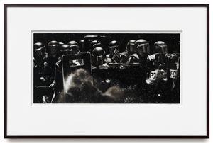 Study of Riot Cops w/ Tear Gas Guns + Shields by Robert Longo contemporary artwork