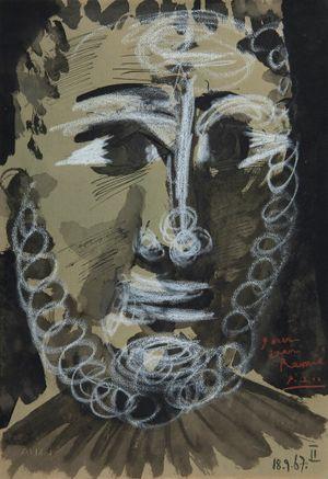 Tête de jeune homme barbu by Pablo Picasso contemporary artwork