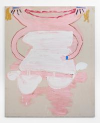 White Corset, Smile by Rose Wylie contemporary artwork painting