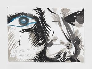 No Title (Roll eyes warily...) by Raymond Pettibon contemporary artwork