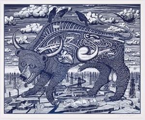 Animal Spirit (blue) by Grayson Perry contemporary artwork