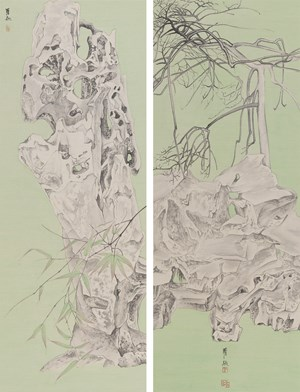 Elegant Offering Series No. 15 and No. 16 by Luo Ying contemporary artwork
