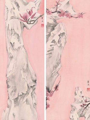 Elegant Offering Series No. 17 and No. 18 by Luo Ying contemporary artwork