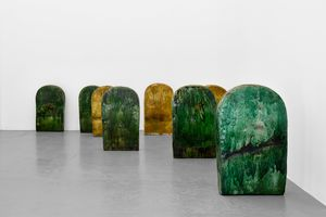 Terre Verte (8 pieces) by M'barek Bouhchichi contemporary artwork