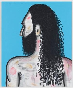 Wrestler (2) by Carroll Dunham contemporary artwork
