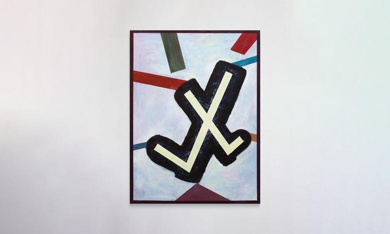 Simon Blau, Social Pressure (2020). Acrylic on panel, 61 x 46 cm. Courtesy Gallery 9, Sydney.