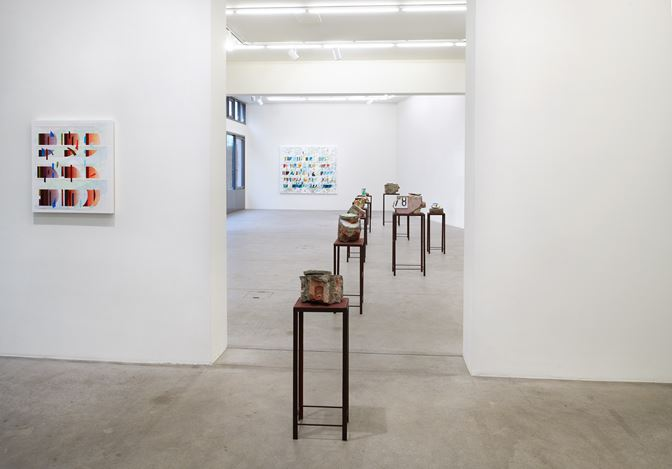 Exhibition view:Tanya Goel, Equations in a Variable, Galerie Urs Meile, Lucerne (14 November 2019–1 February 2020).Courtesy the artist and Galerie Urs Meile.