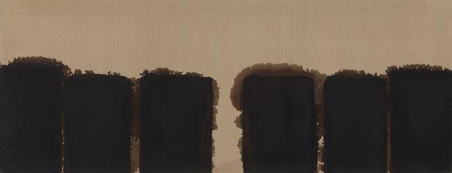 Burnt Umber & Ultramarine '91-#86 by Yun Hyong-keun contemporary artwork