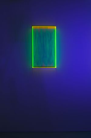 Colormirror rainbow glow after green Milan by Regine Schumann contemporary artwork