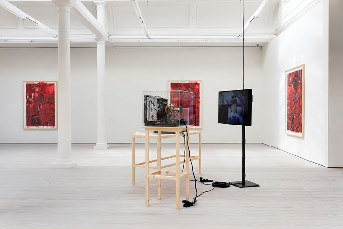 Exhibition view: Yang Fudong, Beyond GOD and Evil – Preface, Marian Goodman Gallery, London (30 May–26 July 2019). Courtesy Marian Goodman Gallery.