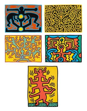 Growing Series I-V by Keith Haring contemporary artwork