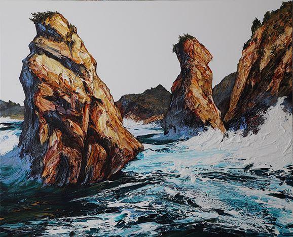Neil Frazer, Swept Shore Study (2018). Acrylic on canvas. 111 x 137 cm. Courtesy Martin Browne Contemporary.