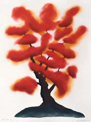 Red Tree by David Nash contemporary artwork