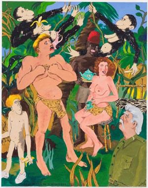 Out of Africa by Robert Colescott contemporary artwork