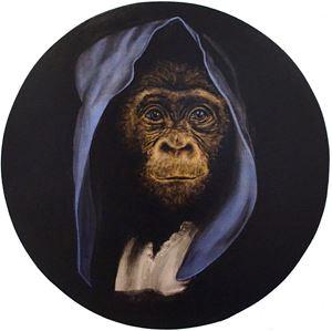 Le Singe Peintre XXII by Stefan à Wengen contemporary artwork