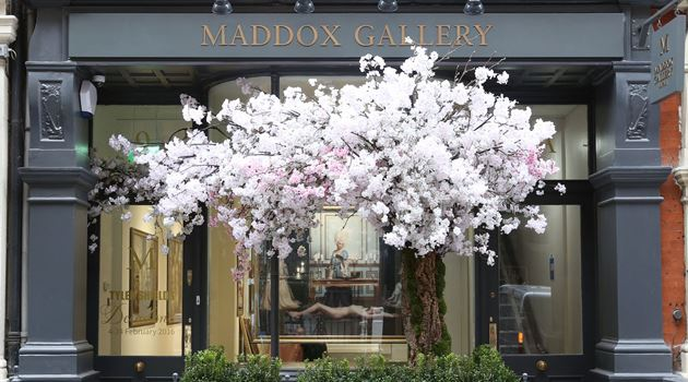 Maddox Gallery contemporary art gallery in Maddox Street, London, United Kingdom