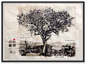 And I Alone by William Kentridge contemporary artwork