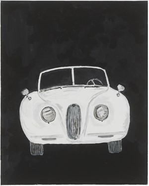 1954 Jaguar xk120 by Mayo Thompson contemporary artwork