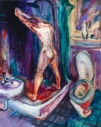 Cold Bath by Rao Fu contemporary artwork painting, works on paper