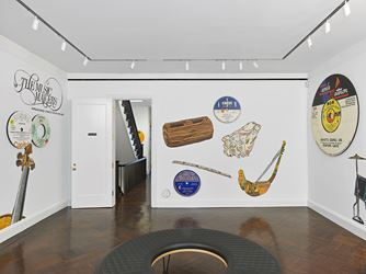 Exhibition view: Dave Muller, Sex & Death & Rock & Roll, Blum & Poe, New York (28 April–30 June 2018). © Dave Muller. Courtesy the artist and Blum & Poe, Los Angeles/New York/Tokyo.Photo: Genevieve Hanson.