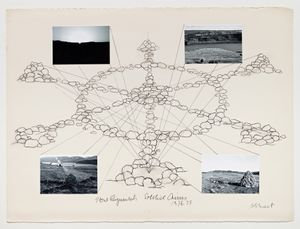 Stone Alignments/Solstice Cairns by Michelle Stuart contemporary artwork works on paper, photography, drawing