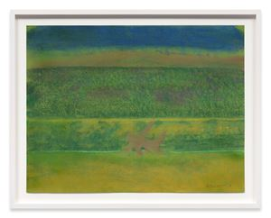Landscape with Purple Bushes by Richard Artschwager contemporary artwork