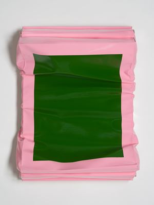 Layers - Small (Sap Green/Brilliant Pink) by Angela De La Cruz contemporary artwork