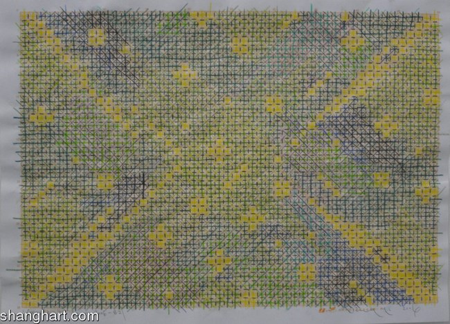 Appearance of Crosses by Ding Yi contemporary artwork