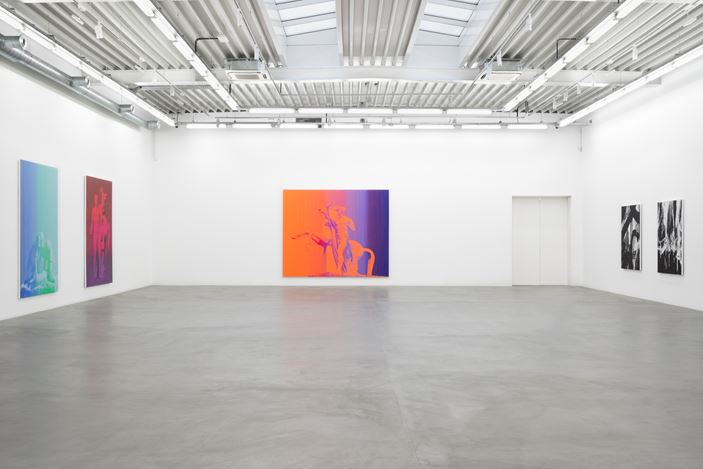 Richard Phillips, 2016-2017, Exhibition view at Almine Rech Gallery, Brussels. Photo: Sven Laurent: Let me shoot for you, courtesy of the Artist and Almine Rech Gallery.