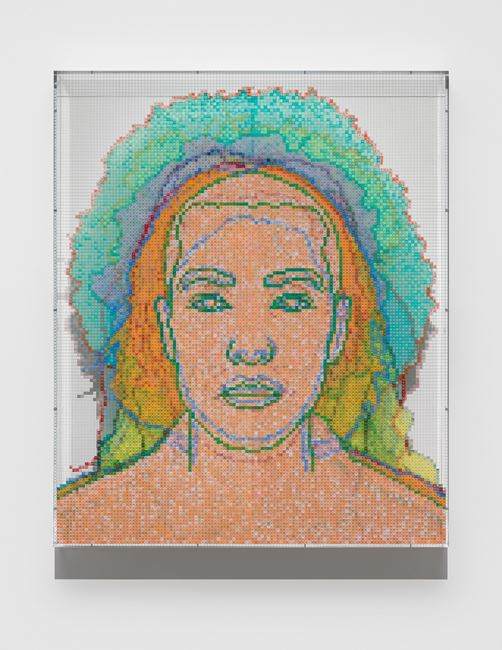 Numbers and Faces: Multi-Racial/Ethnic Combinations Series 1: Face #16, Naoki Sutter-Shudo (Japanese/French/Swiss German) by Charles Gaines contemporary artwork