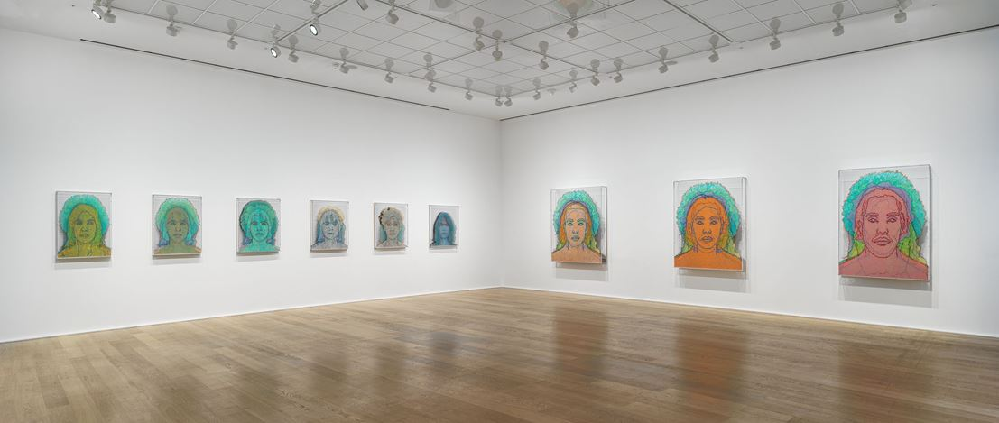 Exhibition view: Charles Gaines, Multiples of Nature, Trees and Faces, Hauser & Wirth, London (online from 29 January–1 May 2021). © Charles Gaines. Courtesy the artist and Hauser & Wirth.Photo: Alex Delfanne.