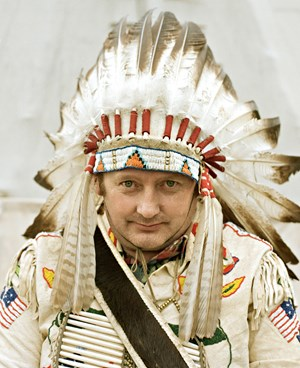 German Indians, Chief by Andrea Robbins and Max Becher contemporary artwork