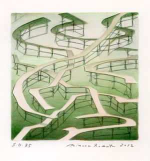 Square Drawing-85 by Minoru Nomata contemporary artwork painting, works on paper, drawing