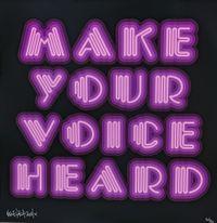 Make Your Voice Heard (Purple) by Ben Eine contemporary artwork print