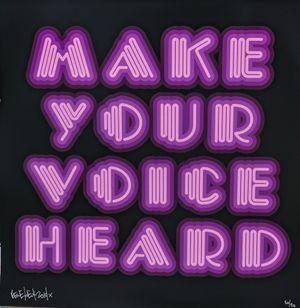 Make Your Voice Heard (Purple) by Ben Eine contemporary artwork