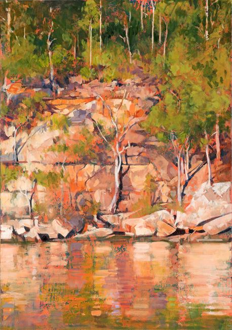 Cogra Point River Bank by A.J. Taylor contemporary artwork