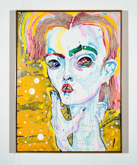 drunken love by Del Kathryn Barton contemporary artwork