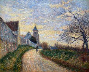 L'église de Conches sur Gondoire, paysage aux environs de Lagny by Leo Gausson contemporary artwork