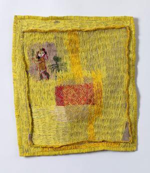 Yellowing sampler by Teelah George contemporary artwork