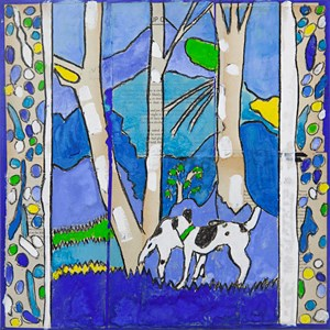 Dogs in the Creek by Katherine Hattam contemporary artwork