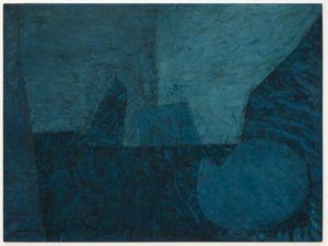 COMPOSITION EN BLEUE AU CERCLE II by Serge Poliakoff contemporary artwork