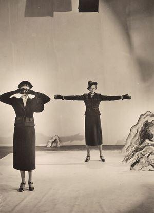 Models Wearing Schiaparelli Desk Suit for 'Vogue' by Cecil Beaton contemporary artwork