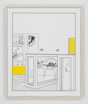 Dots and Slices (traced and painted), Seventh by Louise Lawler contemporary artwork