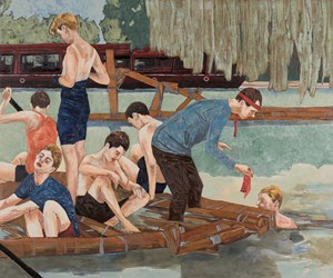 Suicide Sunday (taking on water) by Hernan Bas contemporary artwork