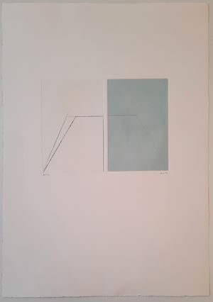 """""""Composition"""" by Geneviève Asse contemporary artwork"""
