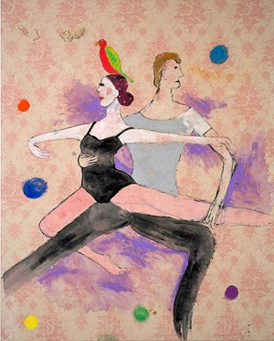 A Parrot atop Dancers by Jenny Watson contemporary artwork